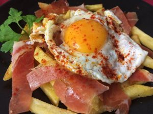 sarten-huevos-jamon
